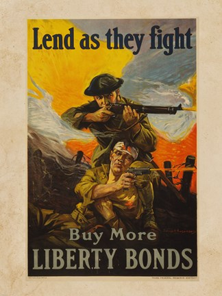 Framed Lend as They Fight Buy More Liberty Bonds Print
