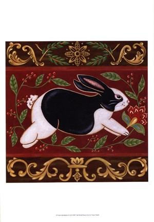 Framed Folk Rabbit II Print