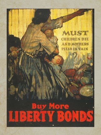 Framed Buy More Liberty Bonds Print