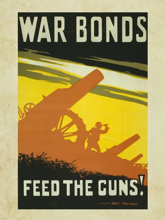 Framed War Bonds Feed the Guns Print
