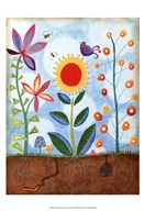 Whimsical Flower Garden II Art