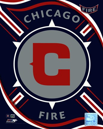 Framed 2011 Chicago Fire Team Logo Print