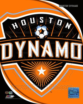 Framed 2011 Houston Dynamo Team Logo Print