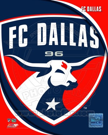 Framed 2011 FC Dallas Team Logo Print