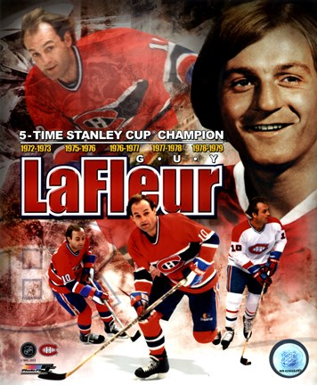 Framed Guy LaFleur 2011 Portrait Plus Print