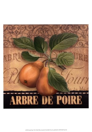 Framed French Pears Print