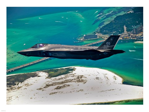 Framed First F-35 Headed for USAF Service Print