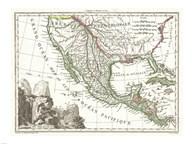 1810 Tardieu Map of Mexico, Texas and California  Fine Art Print