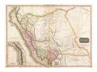 1818 Pinkerton Map of Peru