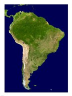 South America - Blue Marble Orthographic