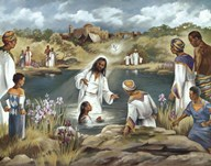 Baptism at River's Edge Art