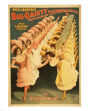 Framed Big Gaiety's Spectacular Extravaganza - The Gaiety Dancers Print