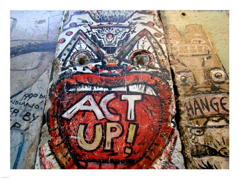 Framed Act Up - Berlin Wall Print
