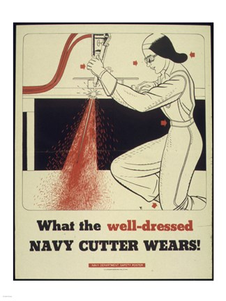 Framed What the Well Dressed Navy Cutter Wears Print