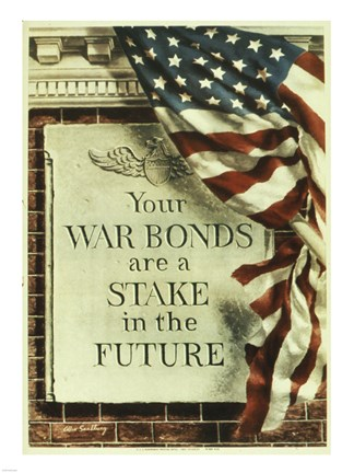 Framed Your War Bonds are at Stake in the Future Print