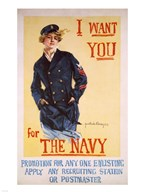 I Want You for the Navy  Fine Art Print