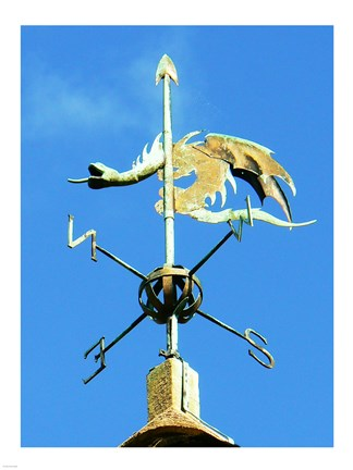Framed Weathervane on the Church of St Michael Print