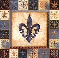Bleu Fleur De Lis I Art