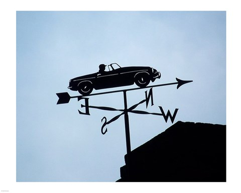 Framed Automotive Weathervane Print