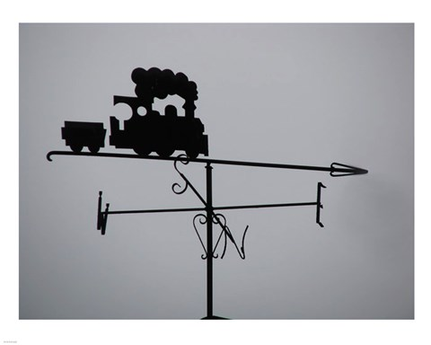 Framed Train Weathervane Print