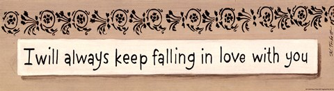 Framed Always Keep Falling Print