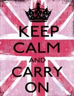 Keep Calm And Carry On 2  Fine Art Print