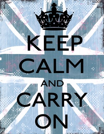 Framed Keep Calm And Carry On 4 Print