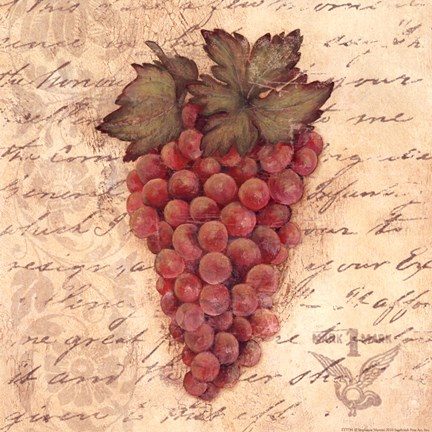 Framed Grapes III Print