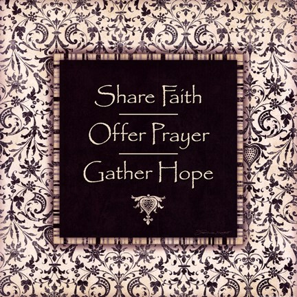 Framed Share Faith Print