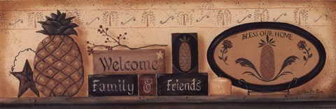 Framed Welcome Friends and Family Print