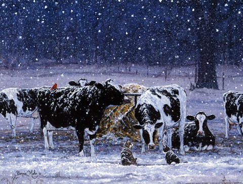 One Snowy Night Fine Art Print By Bonnie Mohr At