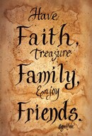 Faith, Family, Friends Art