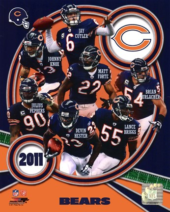 Framed Chicago Bears 2011 Team Composite Print