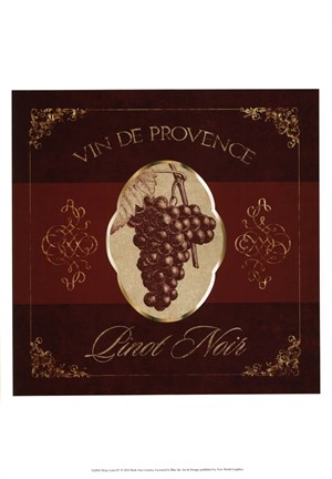 Framed Wine Label IV Print