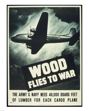 Framed Wood Flies to War Print