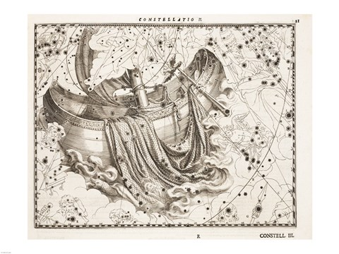 Framed Constellation  Saint Peter's Boat Print