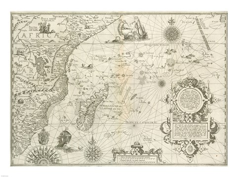East Africa and the Indian Ocean 1596, Arnold Florent van Langren