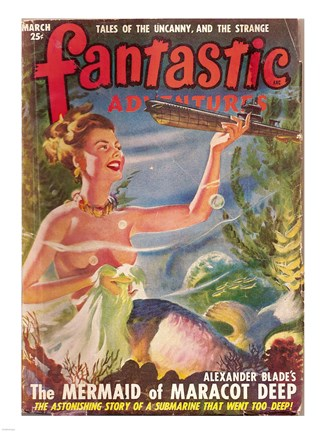Framed Fantastic Adventures 1949 March Cover Print