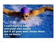 Control - Swimming Quote  Fine Art Print