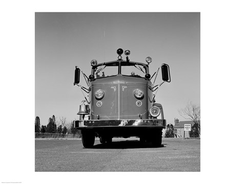 Framed Fire Engine Print