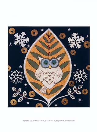 Framed Winter Owl Print