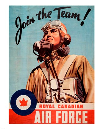 Framed Join the Team RCAF Print