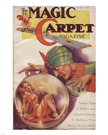 Framed Magic Carpet Magazine October 1933 Print