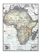 Map of Africa from Encyclopaedia Britannica 1890