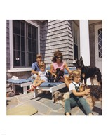 Photograph of Kennedy Family with Dogs During a Weekend at Hyannisport Art