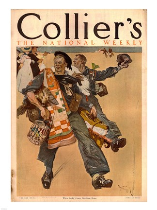 Framed Reuterdahl Colliers Cover June 20 1908 Print