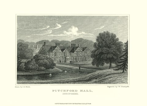 Framed Pitchford Hall Print