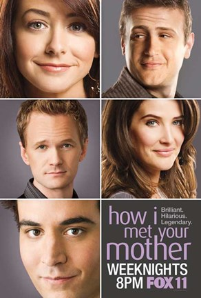 Framed How I Met Your Mother - characters Print