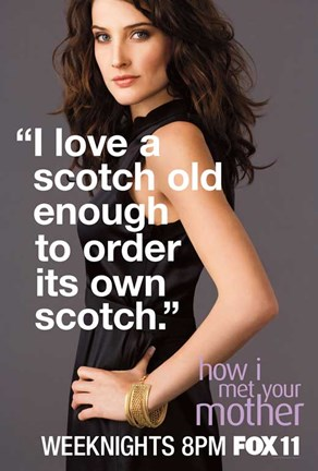 Framed How I Met Your Mother - I love a scotch old enough to order its own scotch Print