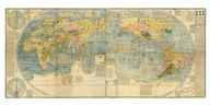Japanese World Map  Fine Art Print